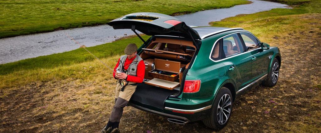 Ideálne auto na ryby je Bentley Bentayga, zdá sa