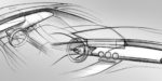 Mercedes-Benz A-Klasse, Interieur, Designskizze // Mercedes-Benz A-Class interior, design sketch
