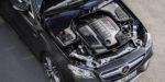 Mercedes-AMG E 53 4MATIC+ Cabriolet Exterieur: Obsidianschwarz metallic, Motorraum // Exterior: Obsidian black metallic, engine  (Kraftstoffverbrauch kombiniert: 8,5 l/100 km; CO2-Emissionen kombiniert: 201 g/km) (fuel consumption combined: 8.5 l/100 km; CO2 emissions combined: 201 g/km)