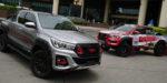 Japonský bojovník Toyota Hilux Black Rally Edition a spol.