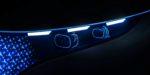 Mercedes-Benz VISION EQS, IAA 2019, DIGITAL LIGHT Scheinwerfer mit je zwei Holographic-Lens-Modulen sondern ermöglichen eine nahezu unbegrenzte Anzahl an Darstellungsmöglichkeiten. // Mercedes-Benz VISION EQS, IAA 2019, the DIGITAL LIGHT headlamps, each with two holographic lens modules allow an almost unlimited number of light variations.